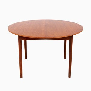 Vintage Circular Dining Table in Teak from Brande Møbelindustri