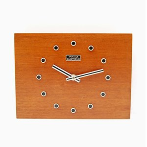 Orologio da parete in palissandro di Prim Electric, anni '70