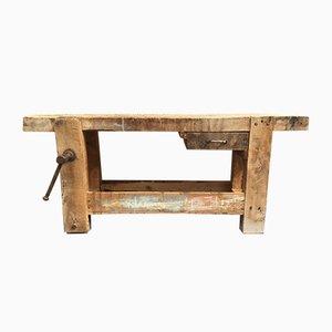 Antiker Werktisch aus Buchenholz