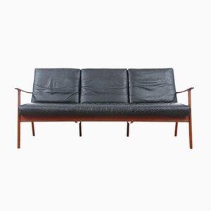 Sofa von Ole Wanscher für Poul Jeppesens Møbelfabrik, 1950er