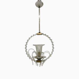 Lampada a sospensione antica in vetro di Murano di Barovier & Toso
