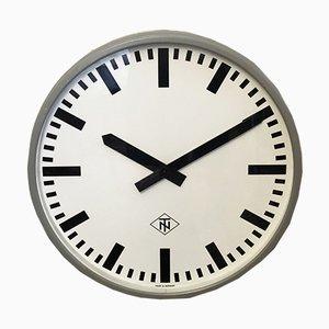 Reloj alemán industrial de Telefonbau und Normalzeit, años 70