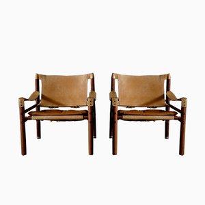 Sirocco Safari Sessel von Arne Norell, 1960er, 2er Set