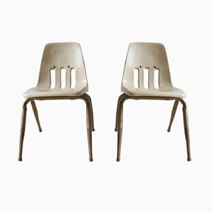 Vintage Industrial Children's Chairs from Virco Los Angeles, Set of 2