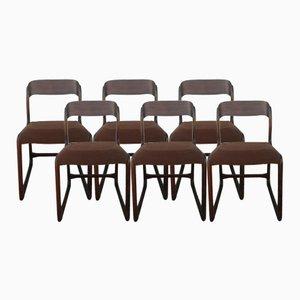 Schlitten Stühle von Baumann, 1960er, 6er Set