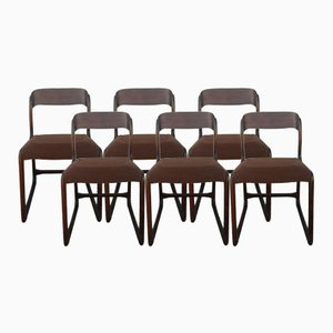 Sled Chairs from Baumann, 1960s, Set of 6