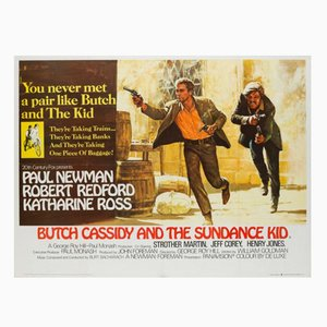 Affiche de Film Butch Cassidy and the Sundance Kid par Tom Beauvais, 1969