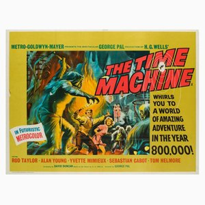 Póster de la película The Time Machine de Reynold Brown, años 60