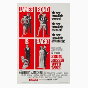 From Russia With Love Film Poster by David Chasman, 1963