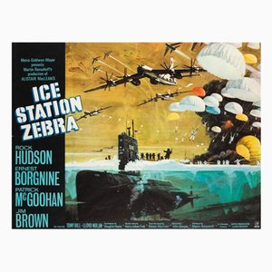Ice Station Zebra Movie Poster by Bob McCall, 1968