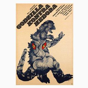 Godzilla vs. Hedorah Movie Poster by Zygmunt Bobrowski, 1973