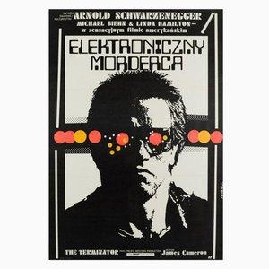 Vintage Polish Terminator Film Poster by Jakub Erol, 1987