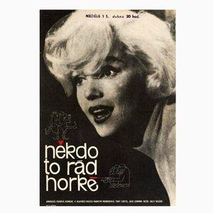 Vintage Some Like it Hot Film Poster, 1964