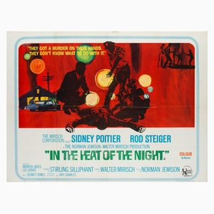 Vintage In the Heat of the Night Film Poster, 1967