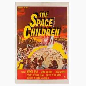 Póster de The Space Children vintage, años 50