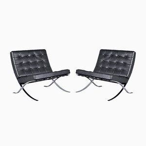 Barcelona Lounge Chairs by Mies van der Rohe for Knoll Inc., 1960s, Set of 2