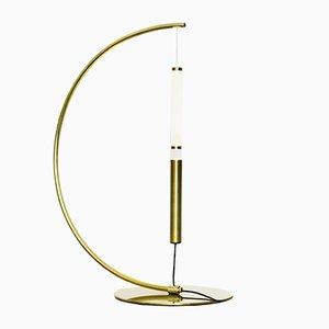 Lampe de Bureau Equilibrio Dorée par Giulia Liverani pour OliveLab, 2017