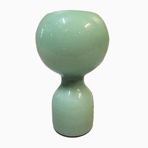 Lampada da tavolo in vetro verde chiaro di Jean-Paul Edmonds-Alt per Philips, anni '70