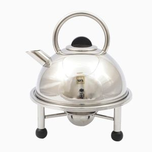 Postmodern German Teapot with Heater from SKS, 1980s