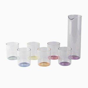 Caraffa e 6 bicchieri Iride di Kanz Architetti per KANZ