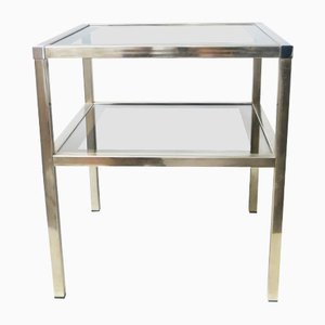 Brass Side Table from Maison Charly Frères, 1970s
