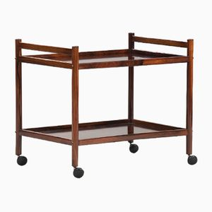 Mid-Century Scandinavian Rosewood Serving Trolley