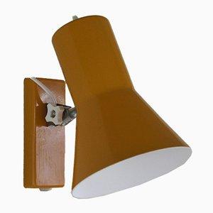 Dänische gelbe Mid-Century Tischlampe