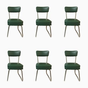 Mid-Century Skai Desk Chairs, Set of 6