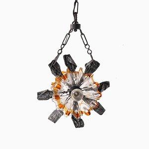 Brutalist Pendant Lamp from Mazzega, 1960s