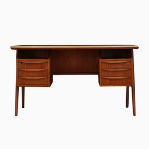 Vintage Writing Desk in Teak by G.N. Tibergaard