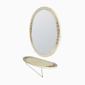 Italian Wall Mirror with Console, 1960s