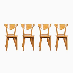 Birch Dining Chairs by Groep & for Goed Wonen, 1940s, Set of 4