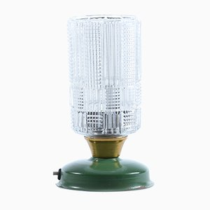 Table Lamp in Pressed Glass and Metal, 1970s