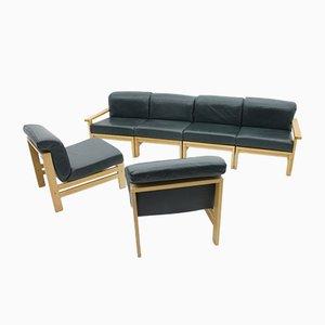Canapé Modulable Vintage en Cuir