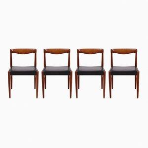 Stühle von H. W. Klein für Bramin, 1960er, 4er Set