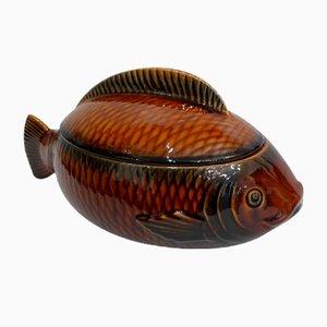 Sopera para sopa de pescado de Sarreguemines, años 60