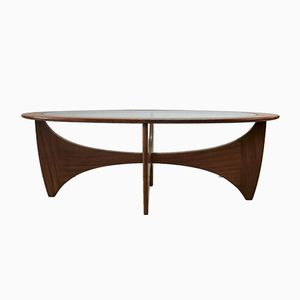 Model Astro Oval Coffee Table by Victor Wilkins for G-Plan, 1960s