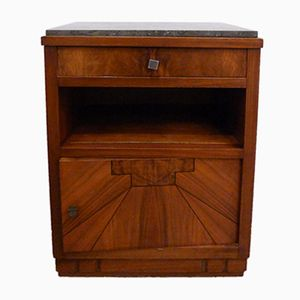 Nightstand with Wood & Marble Top, 1930s