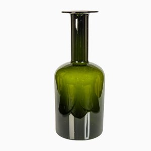 Danish Green Vase by Otto Brauer for Holmegaard, 1950s