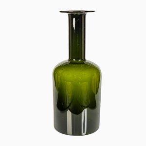 Vaso verde di Otto Brauer per Holmegaard, Danimarca, anni '50