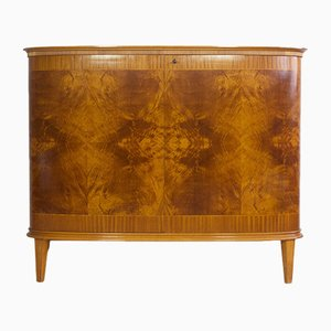 Mahogany Sideboard with 2 Doors & Shelves by AB Seffle Mobelfabrik, 1940s