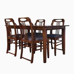 Art Deco Style Dining Room Set by Frits Schuitema, 1980s