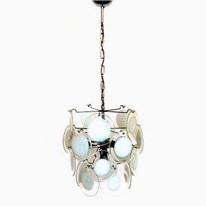 Italienische vintage Murano Glas Hängeleuchte von Vistosi