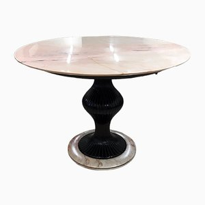 Marmor & Mahagoni Tisch von Osvaldo Borsani, 1950er