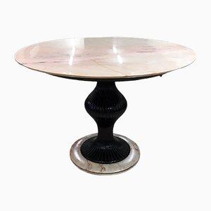 Tavolo in marmo e mogano di Osvaldo Borsani, anni '50
