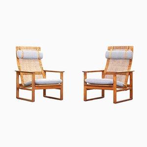 Dänische Sessel von Børge Mogensen, 1950er, 2er Set