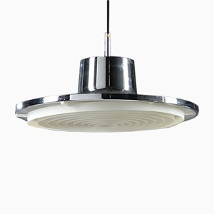 Mid-Century Chromed Metal Pendant Lamp