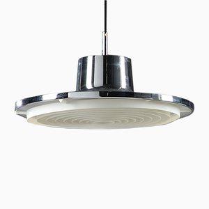 Mid-Century Chromed Metal Pendant Lamp