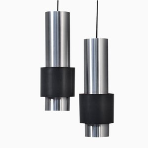 Lampes à Suspension Modèle Zenith par Jo Hammerborg pour Fog & Mørup, 1950s, Set de 2