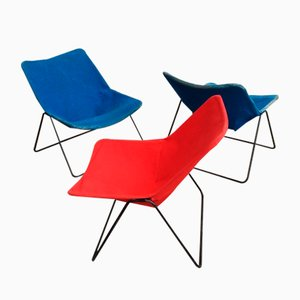 French G1 Lounge Chairs by Pierre Guariche for Airborne, 1950s, Set of 3